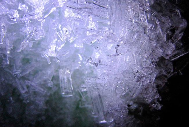 Eiskristalle Im Eis